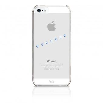 White DIAMONDS Shell iPhone 5/5s/SEE Sash Ice Blue