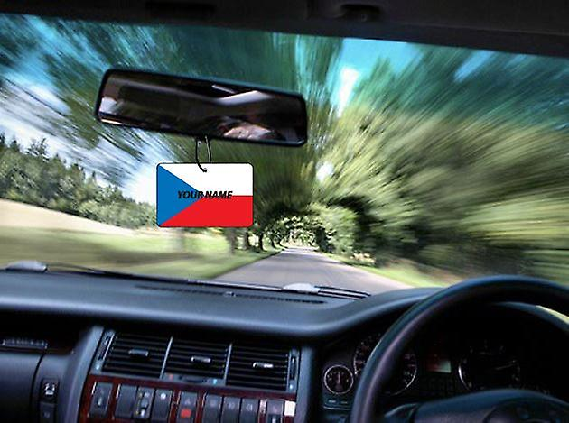 Czech Republic Flag Personalised Car Air Freshener