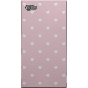 Pink cover with hearts to Sony Xperia Z5 Compact