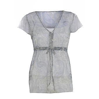 M & S Chiffon Waist Tie Short Sleeve Blouse TP217-8
