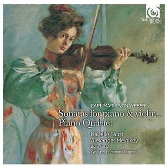C. Weber - Weber: Violinsonater; Klaver kvartetten [CD] USA importerer