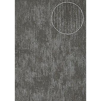 Luxury tree wallpaper Atlas COL-563-5 non-woven wallpaper luxury textured tone on-tone shimmering anthracite blue-eyed 5.33 m2