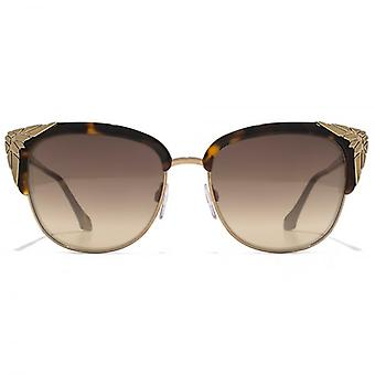 Roberto Cavalli Wezn Cateye Sunglasses In Dark Havana