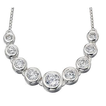 925 Silver Fashionable Zirconia Necklace