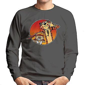Gaden Pals Street Fighter Calvin og Hobbes mænds Sweatshirt