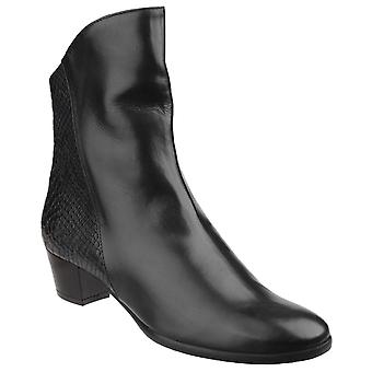Riva Armadillo Pitone Leather Zip up Ankle Boot
