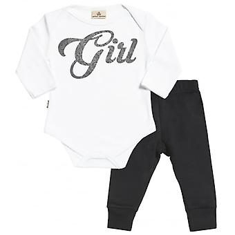 Spoilt Rotten Girl Design Babygrow & Jersey Trousers Outfit Set