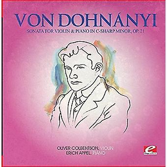 Von Dohnanyi - Sonata Violin & klaver C-Sharp Min 21 [CD] USA import