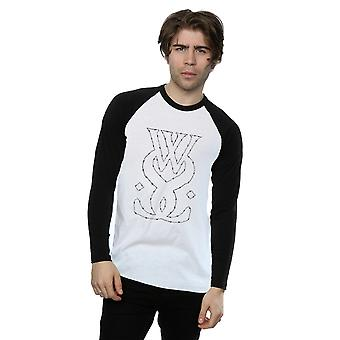 While She Sleeps Men's Barbed Wire Long Sleeved Baseball Shirt