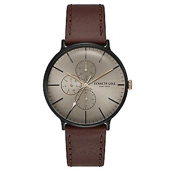 Kenneth Cole New York men's wrist watch analog quartz leather KC15189002