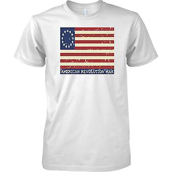 Amerikanische Revolution - Sternen und Streifen-Flagge - Kinder T Shirt