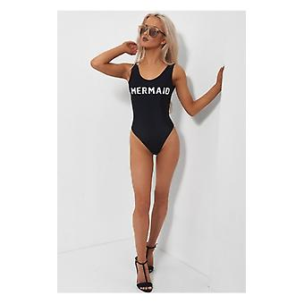 The Fashion Bible Black Mermaid Swimsuit