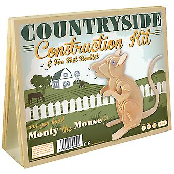Countryside Construction Kit & Fun Fact Booklet - Monty the Mouse