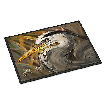 Carolines Treasures  JMK1012MAT Blue Heron Indoor or Outdoor Mat 18x27
