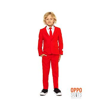 Red Devil of red children suit suit Opposuit slimline Premium 3-piece set