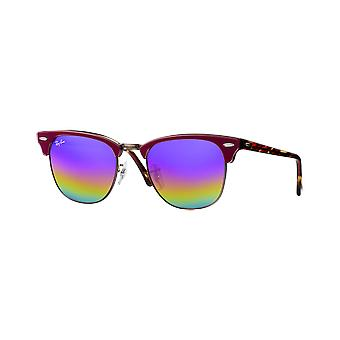 Ray - Ban Clubmaster wide Bordeaux Blue Rainbow Flash