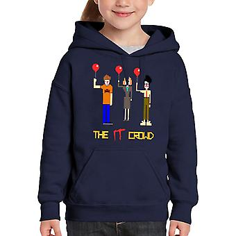 The IT Crowd It Pennywise Mix Kid's Hooded Sweatshirt