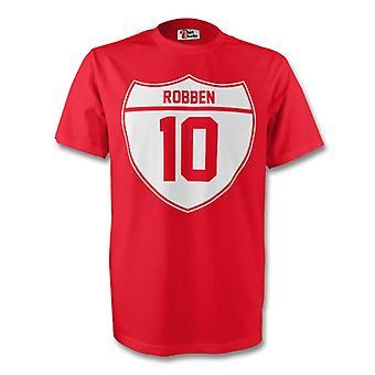 Arjen Robben Bayern München Crest Tee (rød)