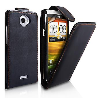 Yousave Accessories HTC One X Leather-Effect Flip Case - Black