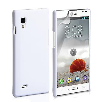 Yousave Accessories LG Optimus L9 Hard Hybrid Case - White