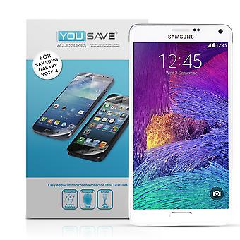 Yousave Samsung Galaxy Note 4 protections d'écran - Pack 3