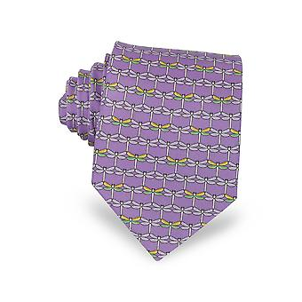 Laura Biagiotti men's A641511007 purple silk tie