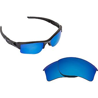 Best SEEK Replacement Lenses for Oakley FLAK JACKET XLJ Black Blue Mirror