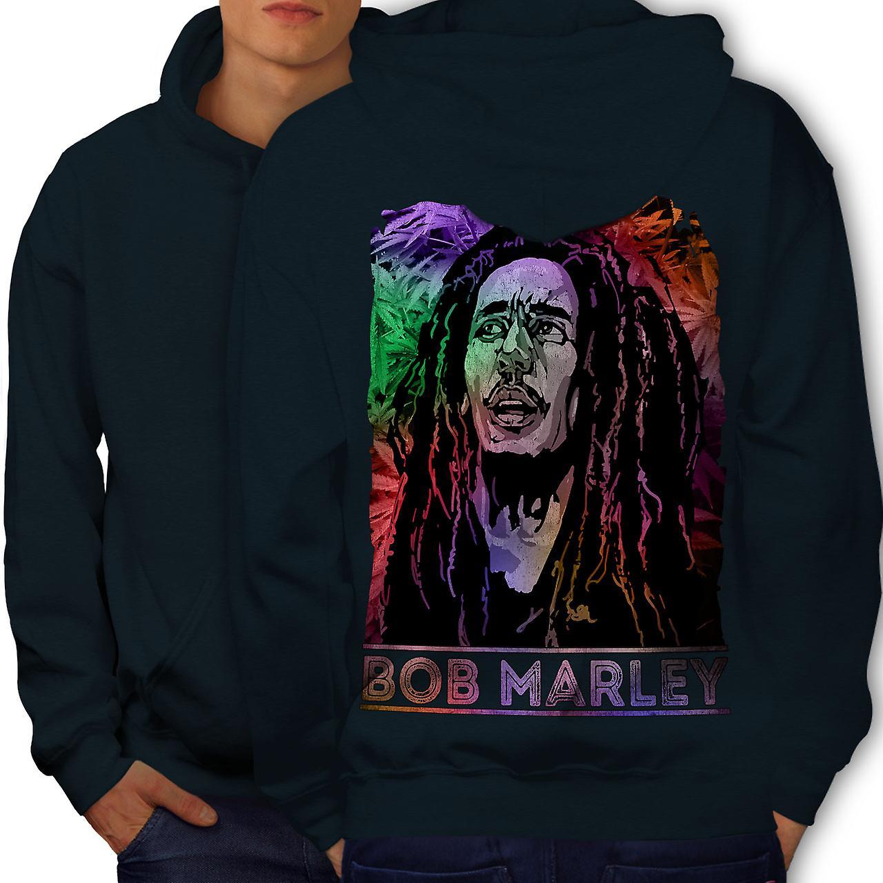 Bob Marley Legend hommes NavyHoodie dos