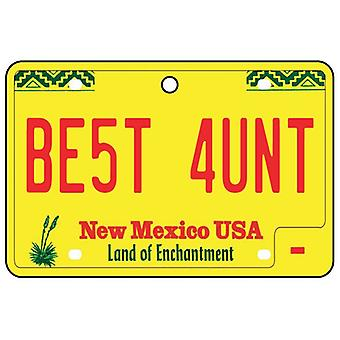 New Mexico - Best Aunt License Plate Car Air Freshener