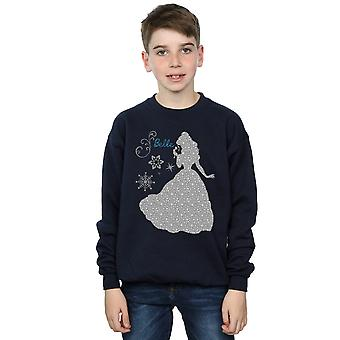 Disney Princess Boys Belle Christmas Silhouette Sweatshirt