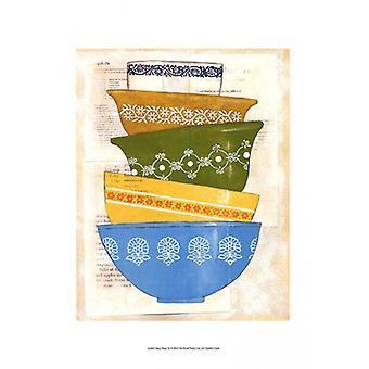 Retro Ware III Poster Print by Chariklia Zarris (13 x 19)