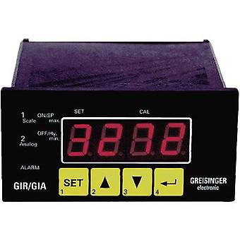 Greisinger GIR 2002 Panel-mounted meter and regulator GIR 2002 0 - 1 V/0 - 2 V/0 - 10 V/0 - 50 mV/4 - 20 mA/0 - 20 mA/0