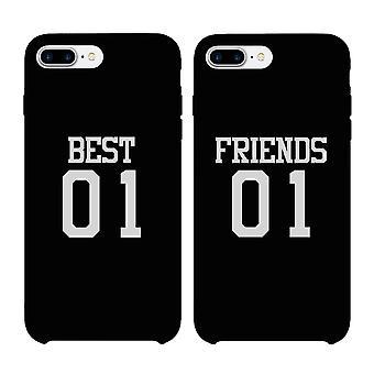 Best01 Friend01 BFF noir correspondant Etui pour téléphone