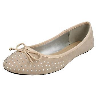 Ladies flekk på juvelen Design ballerinaer F80383