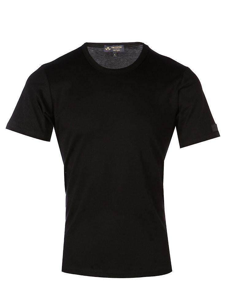 Short sleeve crew neck - black