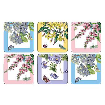 Pimpernel Botanic Garden Terrace Coasters, Set of 6