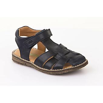 Froddo G3150102 Navy Blue Leather Closed Toe Traditional Sandals