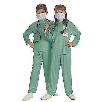 ER Doctor Surgeon Hospital 5Pce Stethoscope Mask Uniform Girls Boys Costume