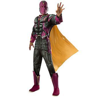 Vision Deluxe Muscle Chest Superhero Marvel Avengers Men Costume