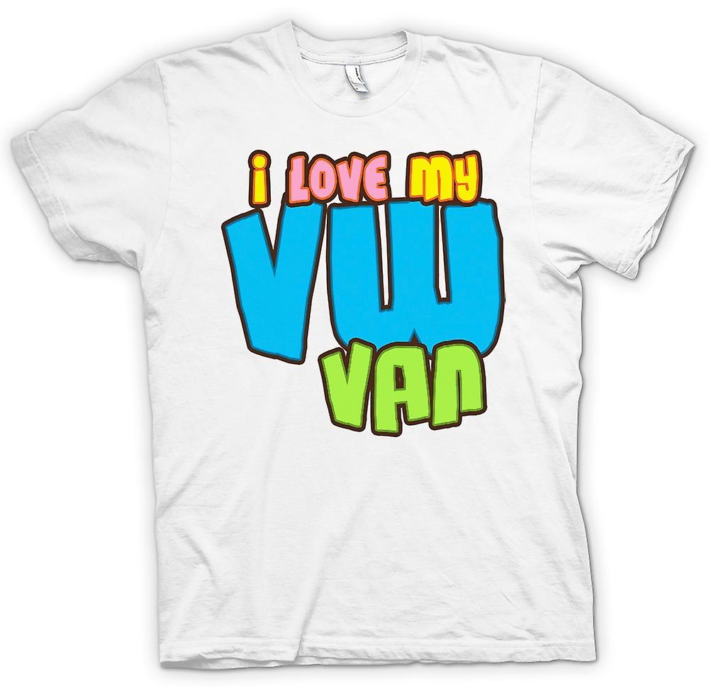 Womens T-shirt - I Love My VW Van - Car Enthusiast