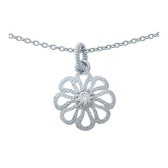 Orphelia Silver 925 Chain With Pendantflower Zirconium  ZH-6017