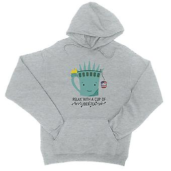 Liber-Tee Pullover Graphic Hoodie grau Tasse süße 4. Juli Geschenk