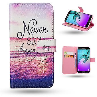 Samsung Galaxy A3 2016-Case/wallet Leather-Never Stop Dream