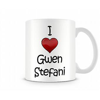 Ich liebe Gwen Stefani Printed Tasse