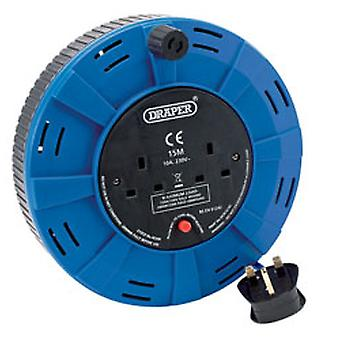 Draper 26339 15M 230V Twin Extension Cable Reel