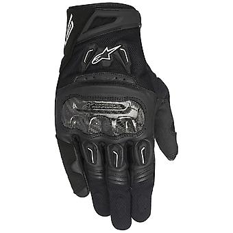 Alpinestars Black SMX-2 Air Carbon V2 Motorcycle Leather Gloves
