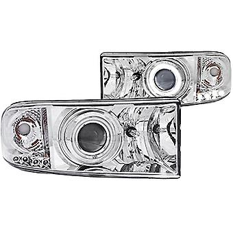 Anzo USA 111056 Dodge Ram Projector With Halo/Chrome Clear With Amber Reflectors Headlight Assembly - (Sold in Pairs)