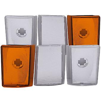 Anzo USA 521032 Chevrolet Suburban lectors Euro 6 Pieces With Amber Reflectors Corner Light Assembly - (Sold in Pairs)