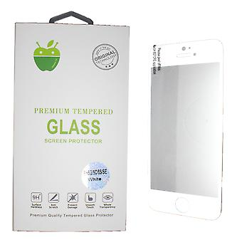 Wit Premium getemperd glas voor iPhone 5 / 5C/5S/SE