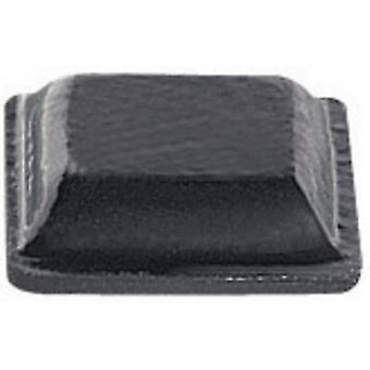 PB Fastener BS-20-BK-R-11 Foot self-adhesive, square Black (W x H) 10.2 mm x 2.5 mm 11 pc(s)